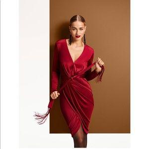 Long Sleeve Deep V Neck Dress by Altuzarra